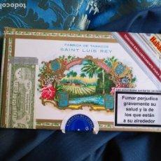 Cajas de Puros: CAJA DE MADERA VACIA DE PUROS HABANOS - REPUBLICA DE CUBA HABANA . FABRICA DE TABACOS SAINT LUIS REY. Lote 171202352