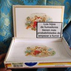 Cajas de Puros: CAJA DE MADERA VACIA DE PUROS HABANOS REPUBLICA DE CUBA HABANA FABRICA TABACOS LGC LA GLORIA CUBANA. Lote 171202775