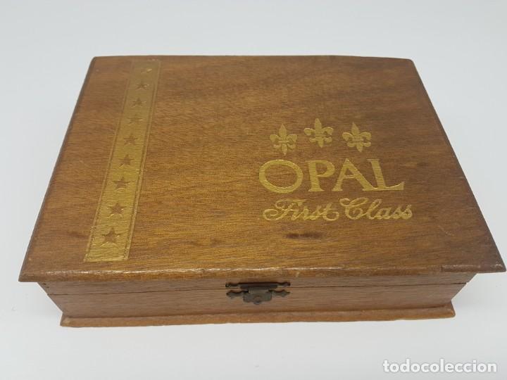 CAJA MADERA PUROS ( OPAL FIRST CLASS CORONA ) 23 UNIDADES (Coleccionismo - Objetos para Fumar - Cajas de Puros)