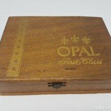 Cajas de Puros: CAJA MADERA PUROS ( OPAL FIRST CLASS CORONA ) 23 UNIDADES. Lote 171233798