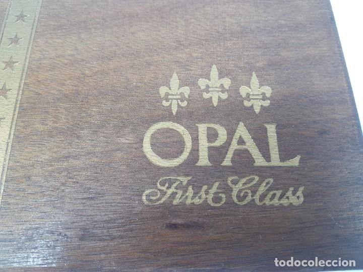 Cajas de Puros: CAJA MADERA PUROS ( OPAL FIRST CLASS CORONA ) 23 UNIDADES - Foto 2 - 171233798