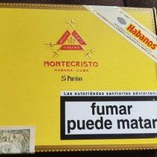 Cajas de Puros: CAJA DE PUROS MONTECRISTO 25 PURITOS CERRADA. Lote 171488710