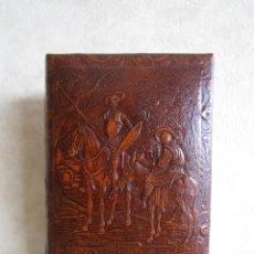 Cajas de Puros: ANTIGUA PURERA DE PIEL DON QUIJOTE. Lote 171534714