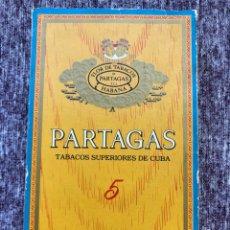 Cajas de Puros: 5 PRESIDENTES CIGARROS PARTAGAS HABANA FLOR DE TABACOS. Lote 171761100