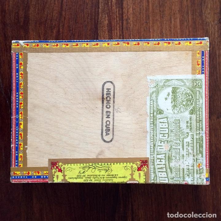 Cajas de Puros: CAJA DE PUROS VACÍA - PARTAGAS 25 CORONAS- HECHO EN CUBA HAVANA - Foto 5 - 171775333