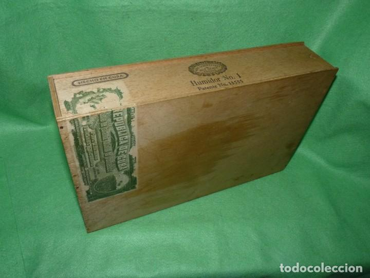 RARA CAJA HOYO MONTERREY JOSÉ GENER ANTIGUO ESTUCHE PARA HUMIDOR Nº1 PUROS HABANOS CUBA MADERA (Coleccionismo - Objetos para Fumar - Cajas de Puros)