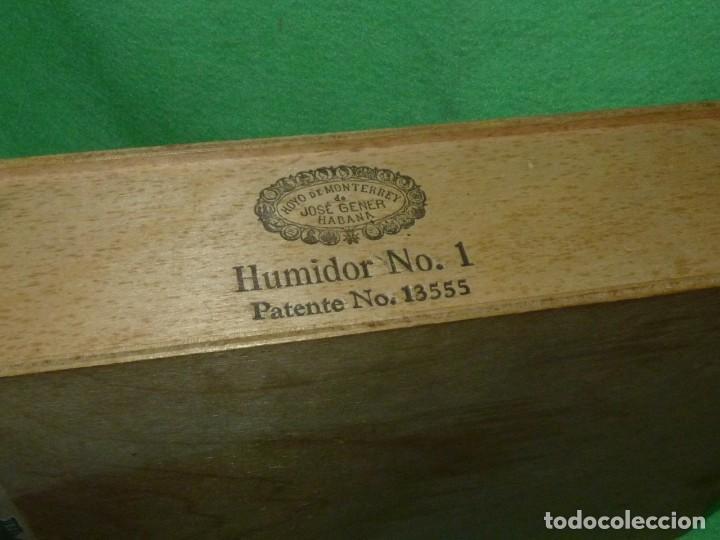 Cajas de Puros: Rara caja Hoyo Monterrey José gener antiguo estuche para humidor nº1 puros habanos Cuba madera - Foto 2 - 172024003