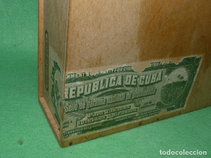 Cajas de Puros: Rara caja Hoyo Monterrey José gener antiguo estuche para humidor nº1 puros habanos Cuba madera - Foto 3 - 172024003