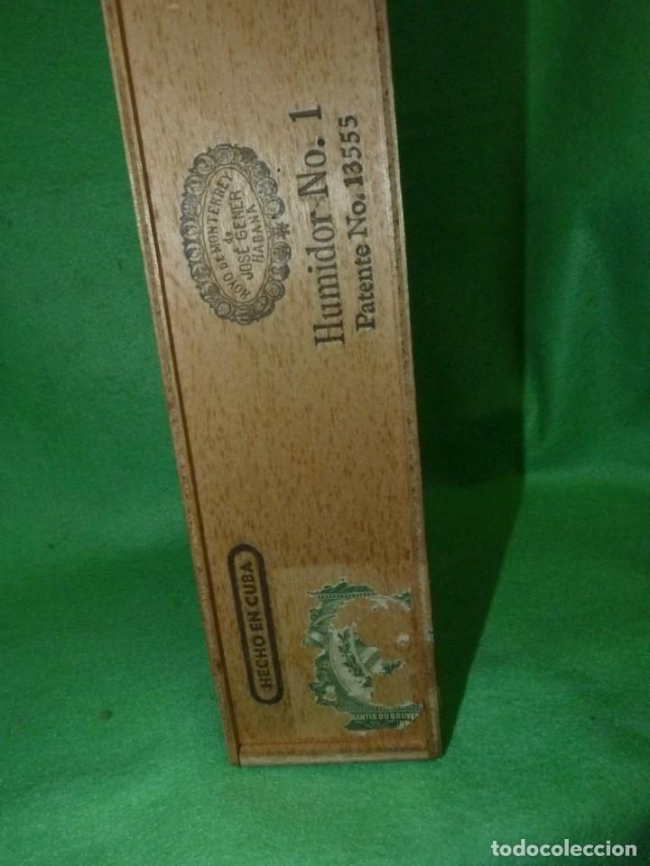 Cajas de Puros: Rara caja Hoyo Monterrey José gener antiguo estuche para humidor nº1 puros habanos Cuba madera - Foto 7 - 172024003