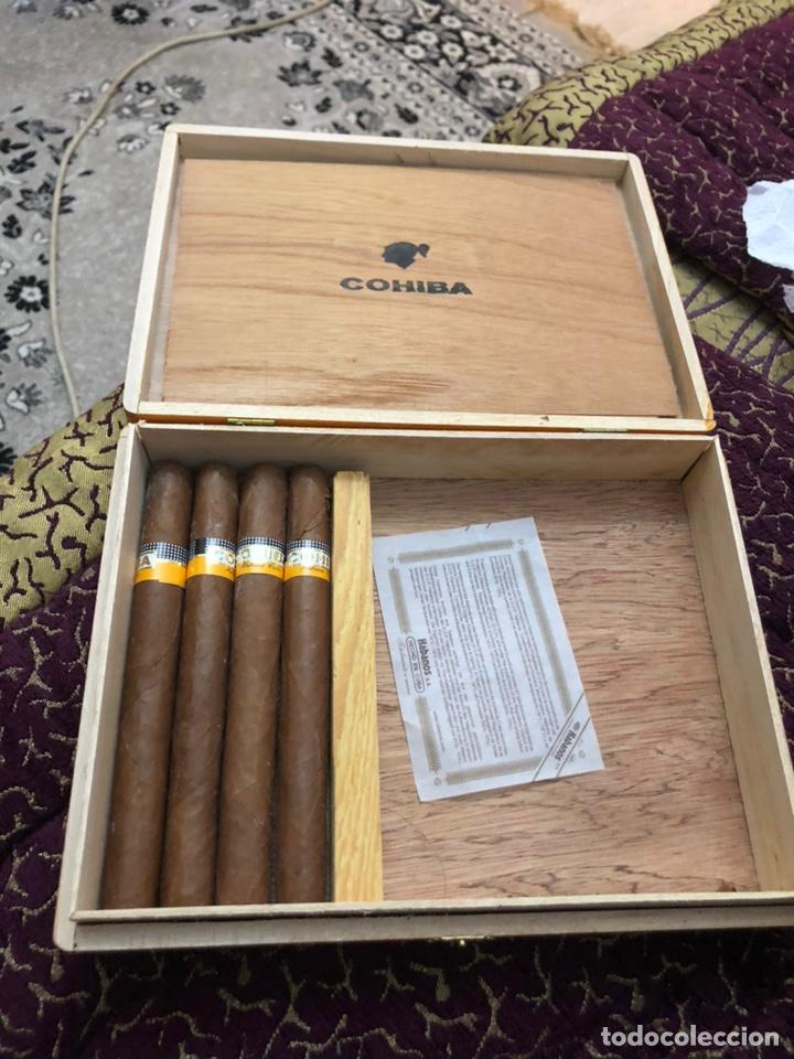 4 PUROS HABANOS COHIBA EN SU CAJA ORIGINAL (Coleccionismo - Objetos para Fumar - Cajas de Puros)