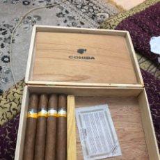 Cajas de Puros: 4 PUROS HABANOS COHIBA EN SU CAJA ORIGINAL. Lote 172032940