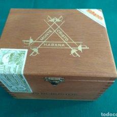 Cajas de Puros: CAJA VACÍA DE PUROS HABANOS. MONTECRISTO 25 ROBUSTOS. Lote 172084352