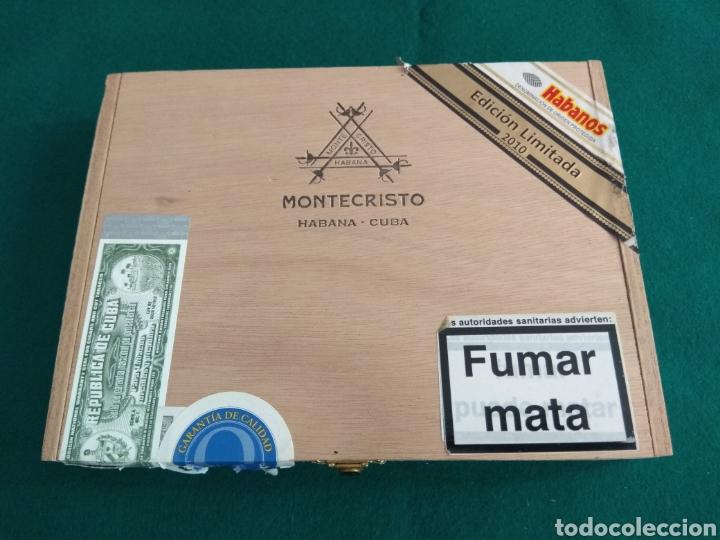 CAJA VACÍA PUROS HABANOS MONTECRISTO GRAN EDMUNDO ED. LIMITADA 2010 (Coleccionismo - Objetos para Fumar - Cajas de Puros)