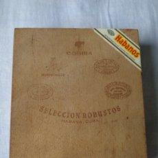 Cajas de Puros: COHIBA - CAJA DE MADERA VACÍA PARA 5 PUROS COHIBA SELECCIÓN ROBUSTOS HABANA - CUBA.. Lote 172127553