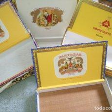 Cajas de Puros: 4 CAJAS DE PUROS MADERA CUBA MONTECRISTO PARTAGAS Y CIA HABANOS ROMEO Y JULIETA ... Lote 172144215