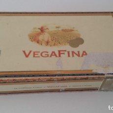 Cajas de Puros: VEGAFINA TABACO REP DOMINICANA CAJA VACIA 25 CORONAS. Lote 172397572