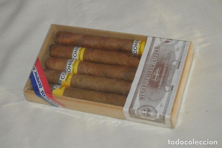 PRECINTADA / SEALED - CAJA DE 5 PUROS COHIBA HECHOS A MANO EN REPÚBLICA DOMINICANA - ANTIGUOS (Coleccionismo - Objetos para Fumar - Cajas de Puros)