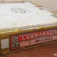 Cajas de Puros: ANTIGUA CAJA DE PUROS POR LARRAÑAGA, CUBA, VACÍA, NUMERADA Y CON SUS SELLOS.. Lote 190117141