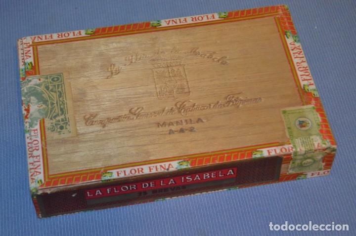 LA FLOR DE LA ISABELA / 25 BREVAS - ANTIGUA CAJA PRECINTADA, SIN ABRIR - DE COLECCIÓN - ¡MIRA! (Coleccionismo - Objetos para Fumar - Cajas de Puros)