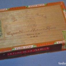 Cajas de Puros: LA FLOR DE LA ISABELA / 25 BREVAS - ANTIGUA CAJA PRECINTADA, SIN ABRIR - DE COLECCIÓN - ¡MIRA!. Lote 173086177