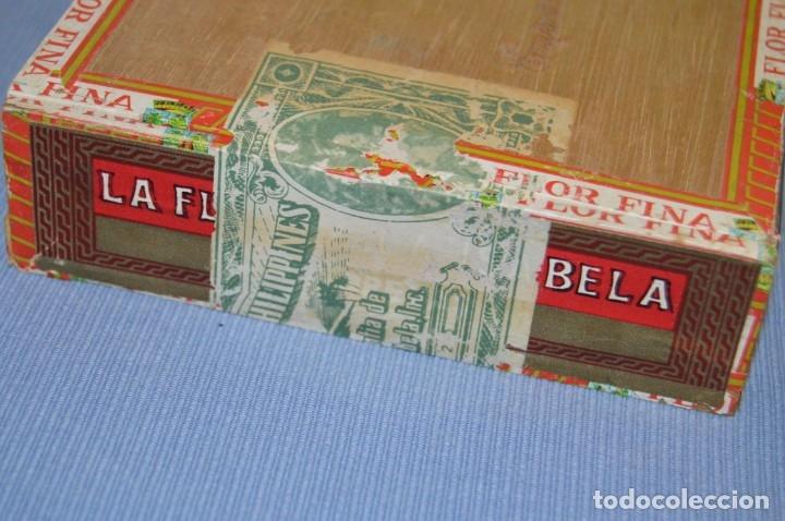 Cajas de Puros: LA FLOR DE LA ISABELA / 25 Brevas - Antigua caja precintada, sin abrir - De colección - ¡Mira! - Foto 4 - 173086177