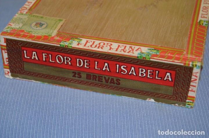 Cajas de Puros: LA FLOR DE LA ISABELA / 25 Brevas - Antigua caja precintada, sin abrir - De colección - ¡Mira! - Foto 6 - 173086177