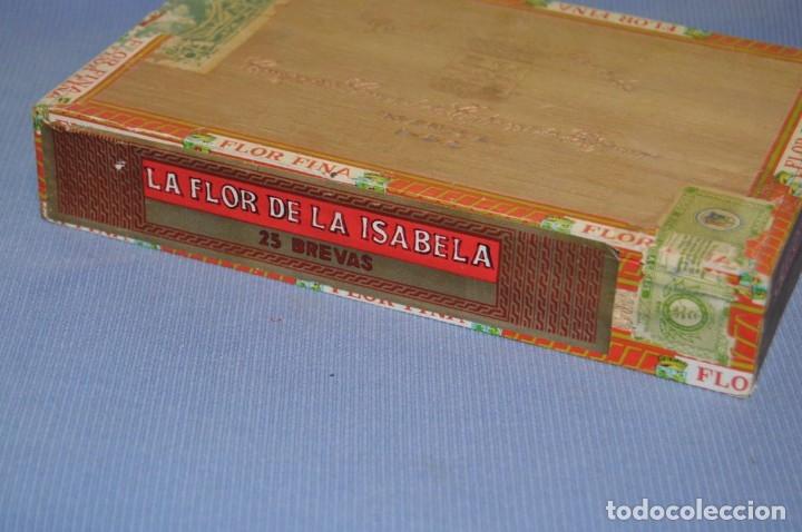 Cajas de Puros: LA FLOR DE LA ISABELA / 25 Brevas - Antigua caja precintada, sin abrir - De colección - ¡Mira! - Foto 7 - 173086177