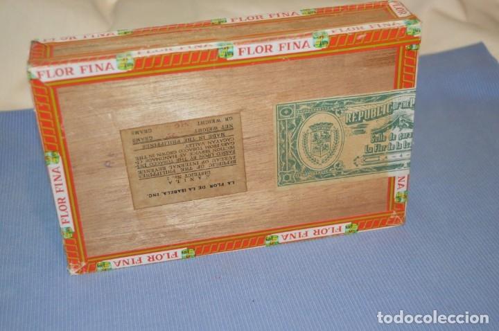 Cajas de Puros: LA FLOR DE LA ISABELA / 25 Brevas - Antigua caja precintada, sin abrir - De colección - ¡Mira! - Foto 8 - 173086177