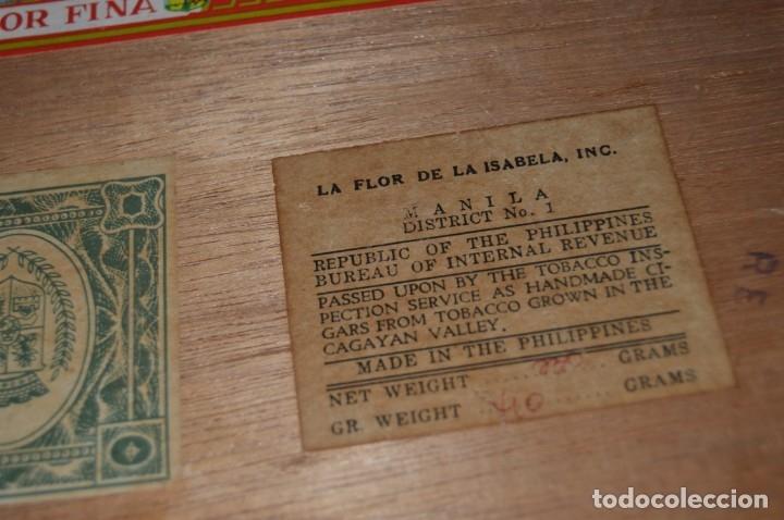 Cajas de Puros: LA FLOR DE LA ISABELA / 25 Brevas - Antigua caja precintada, sin abrir - De colección - ¡Mira! - Foto 9 - 173086177
