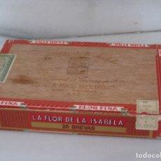 Cajas de Puros: CAJA DE PUROS LA FLOR DE LA ISABELA - FILIPINAS MANILA - CAJA VACIA.. Lote 173139119