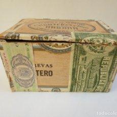Cajas de Puros: CAJA DE PUROS QUINTERO Y HNO - HABANA -CIENFUEGOS CUBA - 25 BREVAS - VACIA.. Lote 173143060