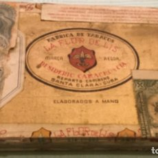 Cajas de Puros: LA FFLOR DE LIS ANTIGUA CAJA MADERA PUROS HABANOS FABRICA TABACOS DESIDERIO CAMACHO SANTA CLARA CUBA. Lote 173473209