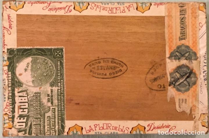 Cajas de Puros: LA FFLOR DE LIS ANTIGUA CAJA MADERA PUROS HABANOS FABRICA TABACOS DESIDERIO CAMACHO SANTA CLARA CUBA - Foto 6 - 173473209