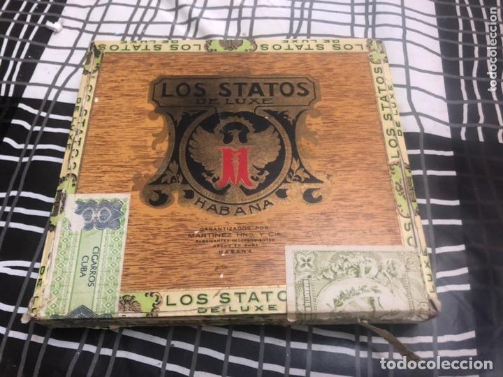 CAJA DE PUROS HABANA LOS STATOS DE LUXE HABANA (Coleccionismo - Objetos para Fumar - Cajas de Puros)