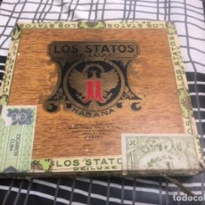 Cajas de Puros: CAJA DE PUROS HABANA LOS STATOS DE LUXE HABANA. Lote 173484158