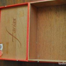 Cajas de Puros: CAJA DE PUROS FARIAS SUPERIORES DE MADERA (VACIA). Lote 173643999