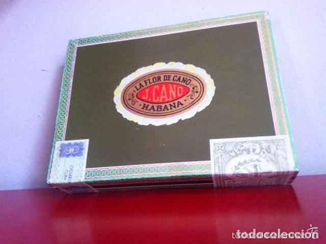 LA FLOR DE CANO - PRECINTADA- 25 SELECTOS. CAJA ANTIGUA PUROS HABANOS (Coleccionismo - Objetos para Fumar - Cajas de Puros)