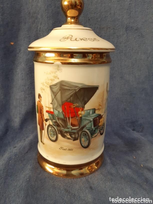 GUARDA PUROS DE PORCELANA ANTIGUO (Coleccionismo - Objetos para Fumar - Cajas de Puros)