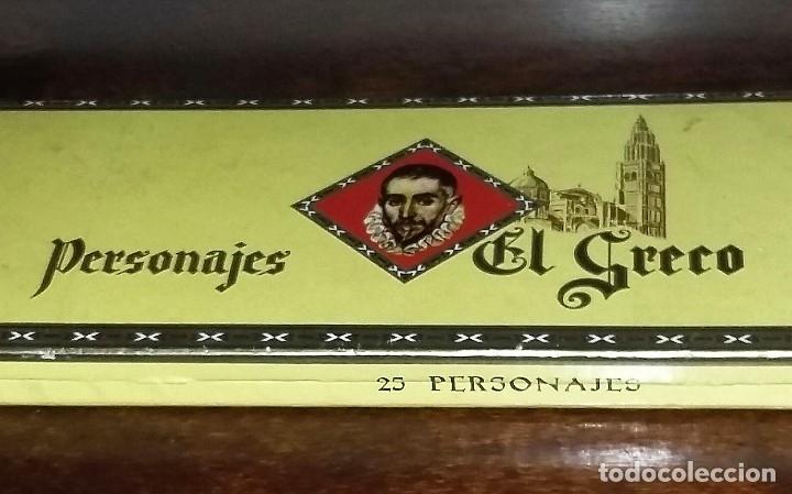 CAJA COMPLETA CON 25 PUROS PERSONAJES EL GRECO. PRECINTADOS Y CON VITOLAS. P. CAPOTE. CANARIAS. (Coleccionismo - Objetos para Fumar - Cajas de Puros)