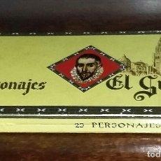 Cajas de Puros: CAJA COMPLETA CON 25 PUROS PERSONAJES EL GRECO. PRECINTADOS Y CON VITOLAS. P. CAPOTE. CANARIAS. . Lote 173873017