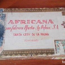Cajas de Puros: LA AFRICANA SANTA CRUZ DE LA PALMA CANARIAS CAJA PUROS VACIA. Lote 173874385