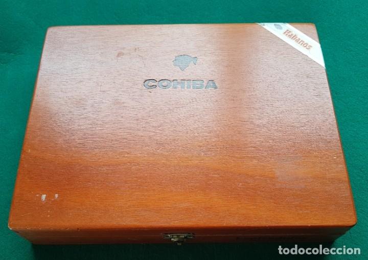 CAJA PUROS HABANOS COHIBA ESPLÉNDIDOS CONSERVA HUMIDOR Y SEPARADOR (Coleccionismo - Objetos para Fumar - Cajas de Puros)