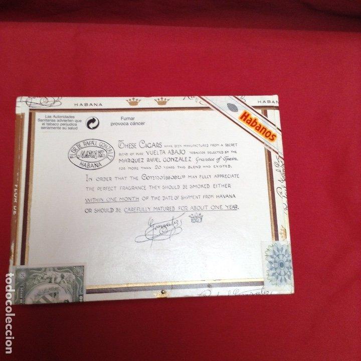 CAJA DE PUROS , CON 23 PUROS PANETELAS EXTRAS , AÑO 2000, RAFAEL GONZÁLEZ MÁRQUEZ OBJETO DE COLEC (Coleccionismo - Objetos para Fumar - Cajas de Puros)