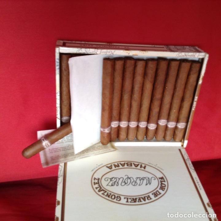 Cajas de Puros: Caja de puros , con 23 puros panetelas extras , año 2000, Rafael González Márquez objeto de colec - Foto 3 - 174012507