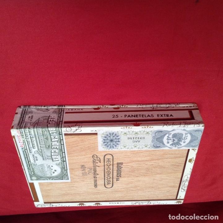 Cajas de Puros: Caja de puros , con 23 puros panetelas extras , año 2000, Rafael González Márquez objeto de colec - Foto 6 - 174012507