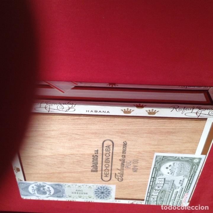 Cajas de Puros: Caja de puros , con 23 puros panetelas extras , año 2000, Rafael González Márquez objeto de colec - Foto 8 - 174012507