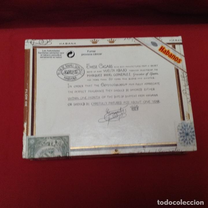 Cajas de Puros: Caja de puros , con 23 puros panetelas extras , año 2000, Rafael González Márquez objeto de colec - Foto 9 - 174012507