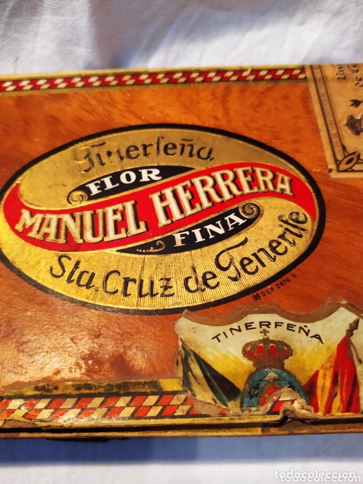 Cajas de Puros: ÚNICA CAJA DE PUROS TINERFEÑA, MANUEL HERRERA, VER - Foto 2 - 174195383