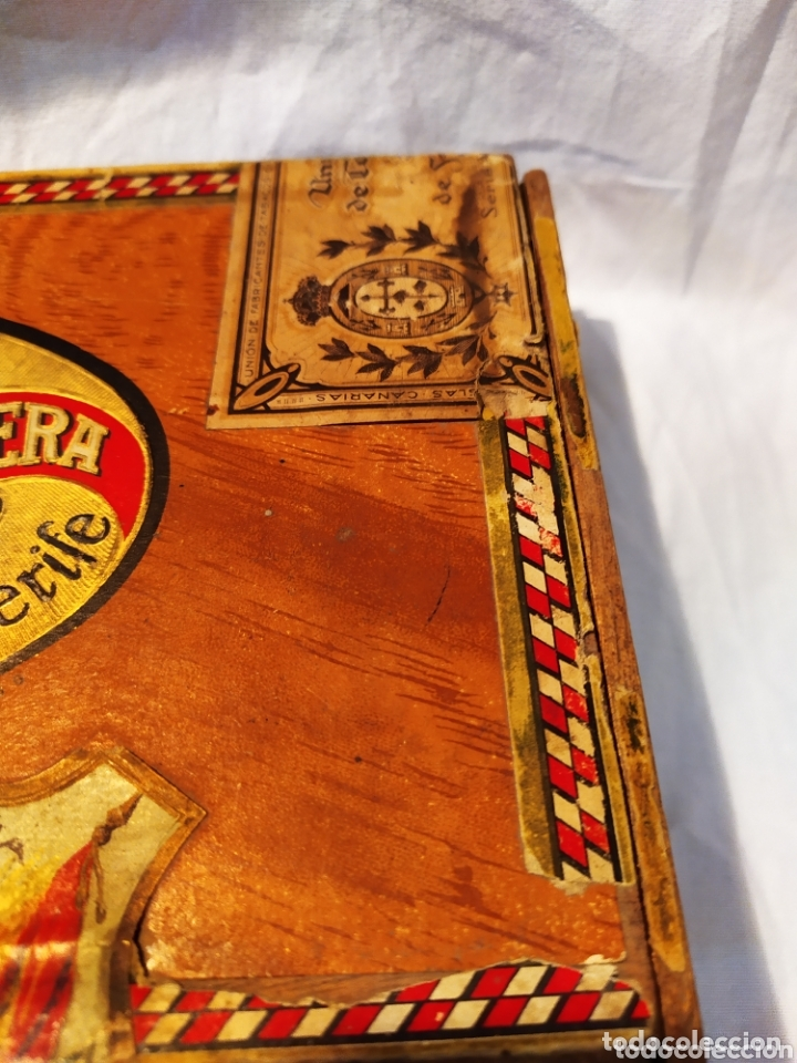 Cajas de Puros: ÚNICA CAJA DE PUROS TINERFEÑA, MANUEL HERRERA, VER - Foto 3 - 174195383