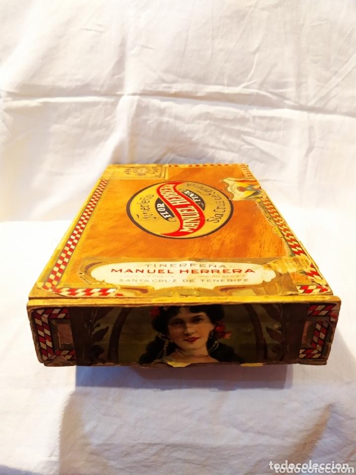 Cajas de Puros: ÚNICA CAJA DE PUROS TINERFEÑA, MANUEL HERRERA, VER - Foto 4 - 174195383